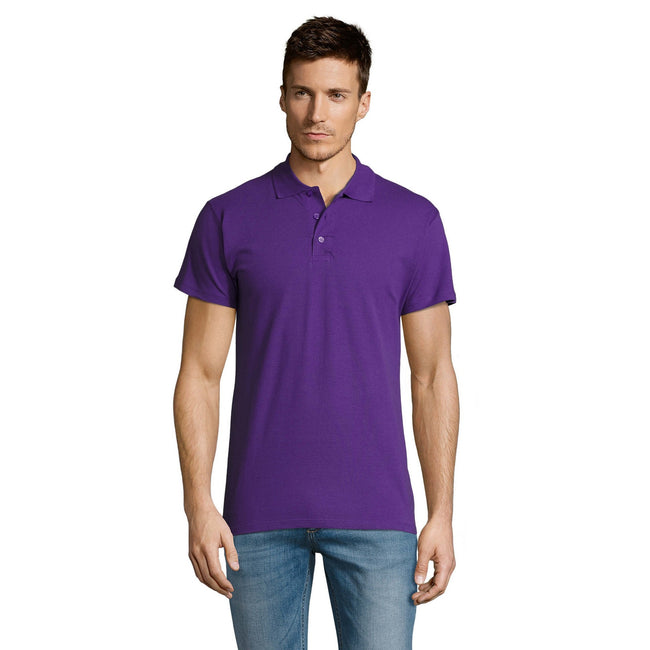 Sand - Lifestyle - SOLS Mens Summer II Pique Short Sleeve Polo Shirt