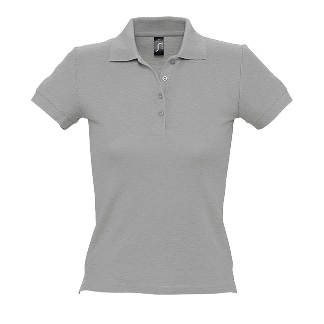 Orchid Pink - Front - SOLS Womens-Ladies People Pique Short Sleeve Cotton Polo Shirt