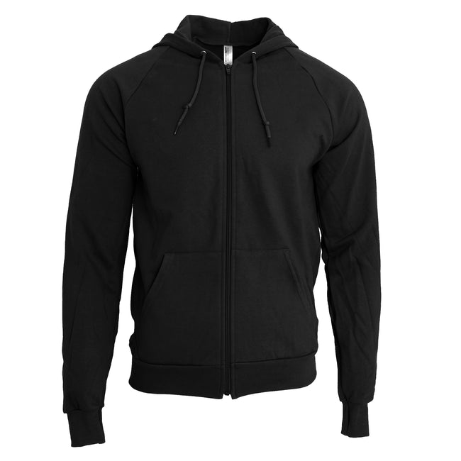 Black - Front - American Apparel Unisex California Zip Hooded Sweatshirt