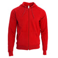 Red - Front - American Apparel Unisex California Zip Hooded Sweatshirt