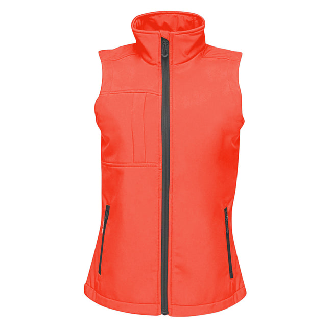 Seal Grey-Black - Front - Regatta Womesn-Ladies Octagon II Printable Soft Shell Bodywarmer