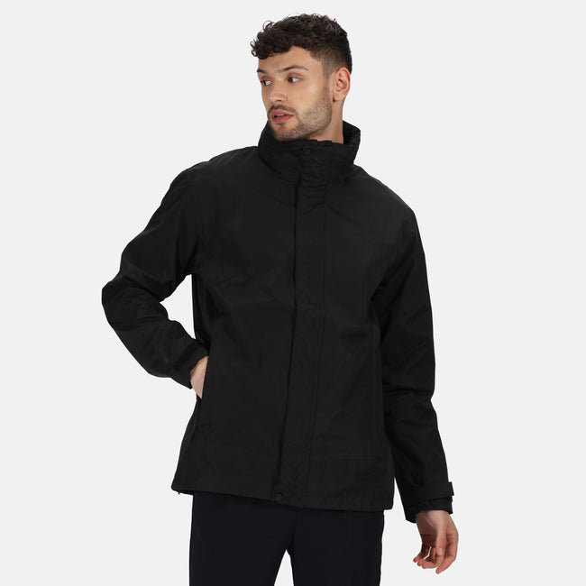 Black-Black - Back - Regatta Mens Gibson IV Waterproof Interactive Jacket