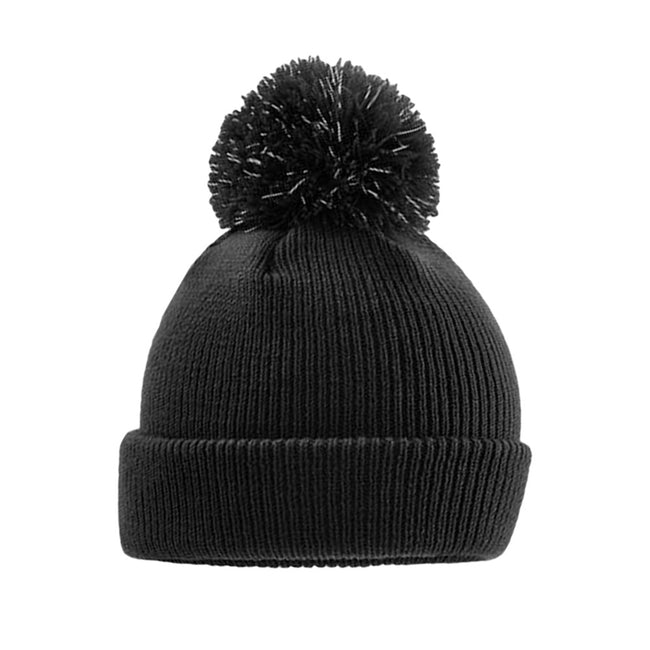 Bottle Green - Front - Beechfield Kids Reflective Bobble Beanie