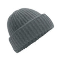 Soft Grey - Front - Beechfield Womens-Ladies Plush Cuffed Beanie