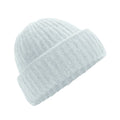 Soft Ice - Front - Beechfield Womens-Ladies Plush Cuffed Beanie