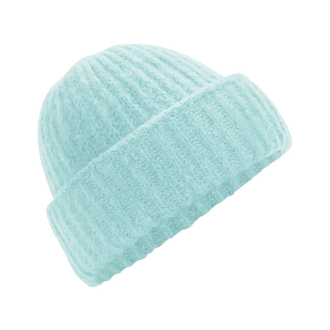 Soft Mint - Front - Beechfield Womens-Ladies Plush Cuffed Beanie