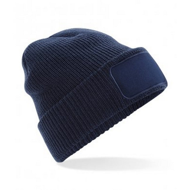 French Navy - Front - Beechfield Adults Thinsulate Printers Beanie
