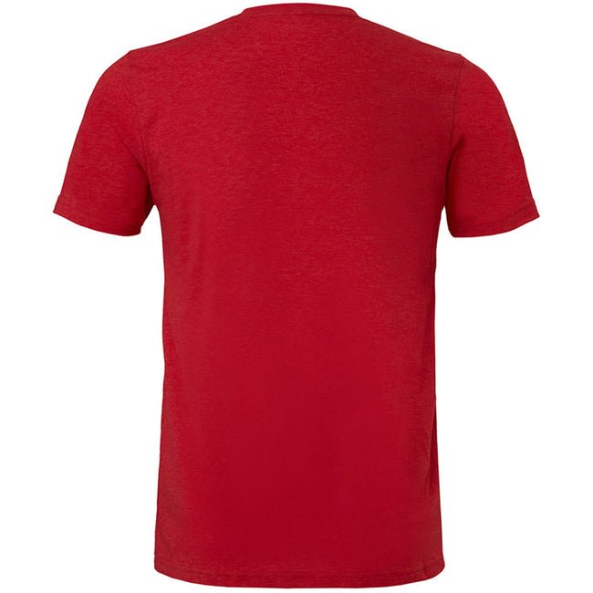 Heather Red - Back - Bella + Canvas Adults Unisex Heather CVC T-Shirt