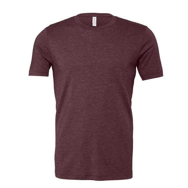 Heather Maroon Red - Front - Bella + Canvas Adults Unisex Heather CVC T-Shirt