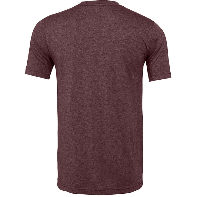 Heather Maroon Red - Back - Bella + Canvas Adults Unisex Heather CVC T-Shirt