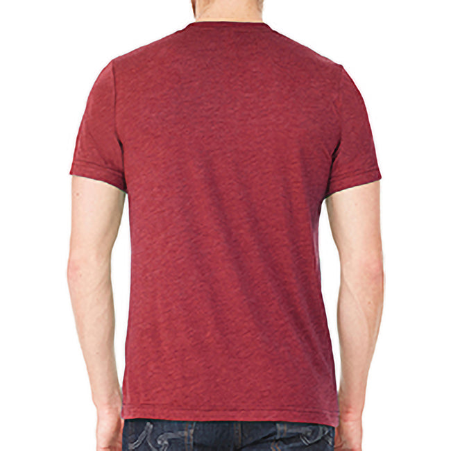 Heather Cardinal Red - Side - Bella + Canvas Adults Unisex Heather CVC T-Shirt