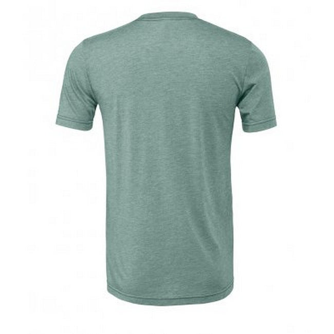 Heather Sea Green - Front - Bella + Canvas Adults Unisex Heather CVC T-Shirt