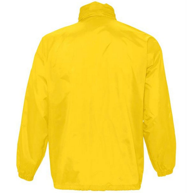 Blue Atoll - Front - SOLS Unisex Surf Windbreaker Lightweight Jacket