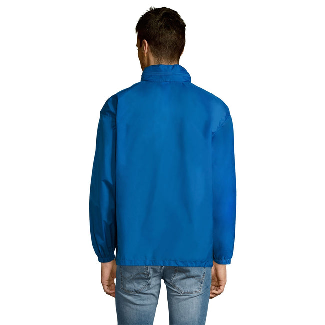 Royal Blue - Back - SOLS Unisex Surf Windbreaker Lightweight Jacket