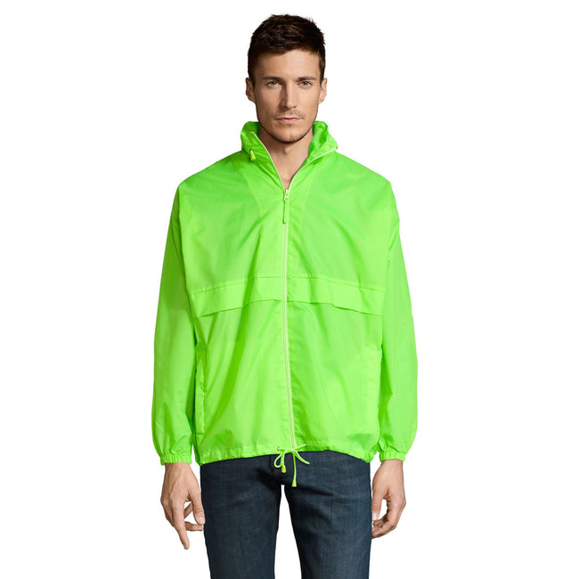 Gold - Back - SOLS Unisex Surf Windbreaker Lightweight Jacket