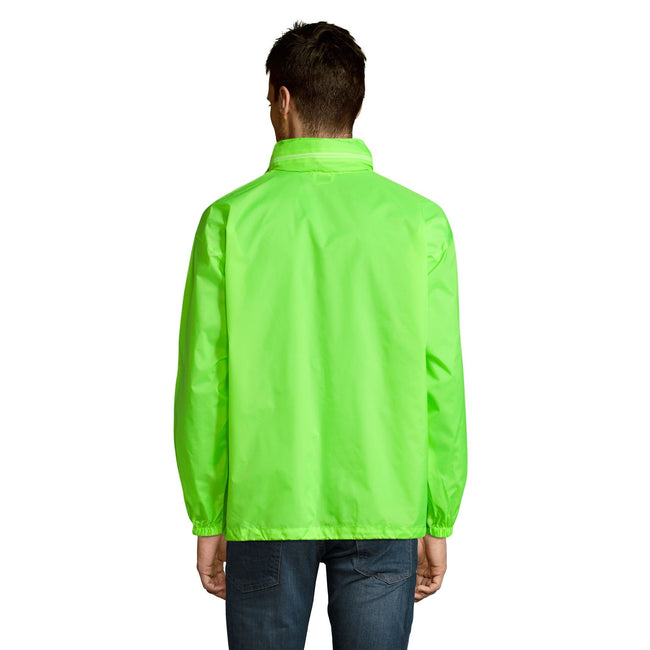 Black - Back - SOLS Unisex Surf Windbreaker Lightweight Jacket