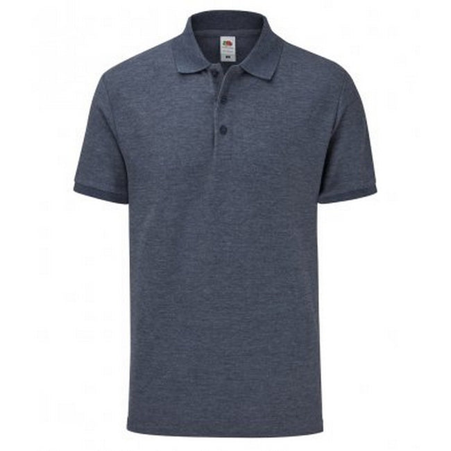 Heather Navy - Front - Fruit Of The Loom Mens Tailored Poly-Cotton Piqu Polo Shirt