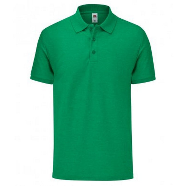 Heather Green - Front - Fruit Of The Loom Mens Tailored Poly-Cotton Piqu Polo Shirt