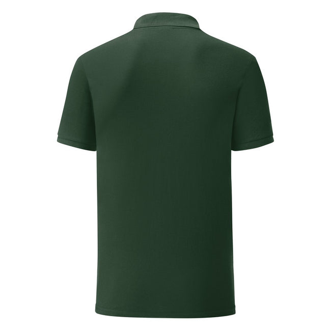 Bottle Green - Back - Fruit Of The Loom Mens Tailored Poly-Cotton Piqu Polo Shirt
