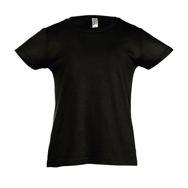 Aqua - Front - SOLS Girls Cherry Short Sleeve T-Shirt