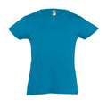 Deep Black - Back - SOLS Girls Cherry Short Sleeve T-Shirt