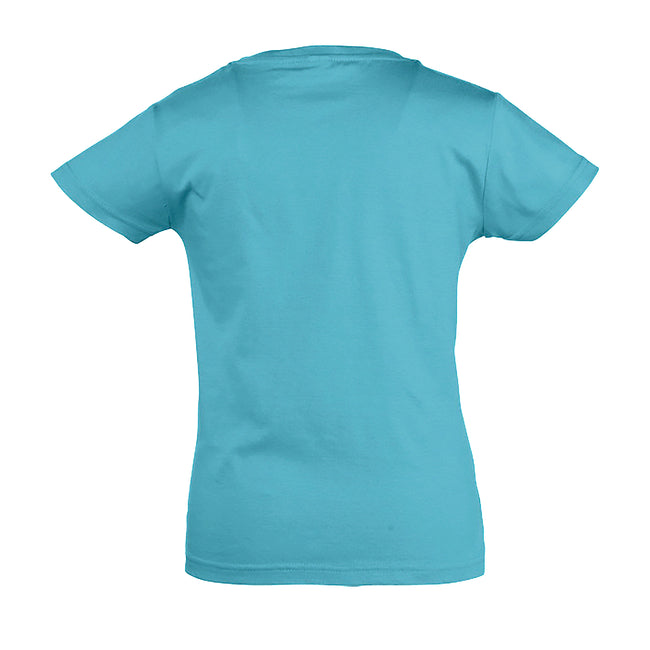 Medium Pink - Front - SOLS Girls Cherry Short Sleeve T-Shirt