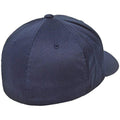 Purple - Back - Flexfit Unisex Wooly Combed Cap