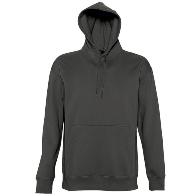 Dark Grey - Side - SOLS Slam Unisex Hooded Sweatshirt - Hoodie