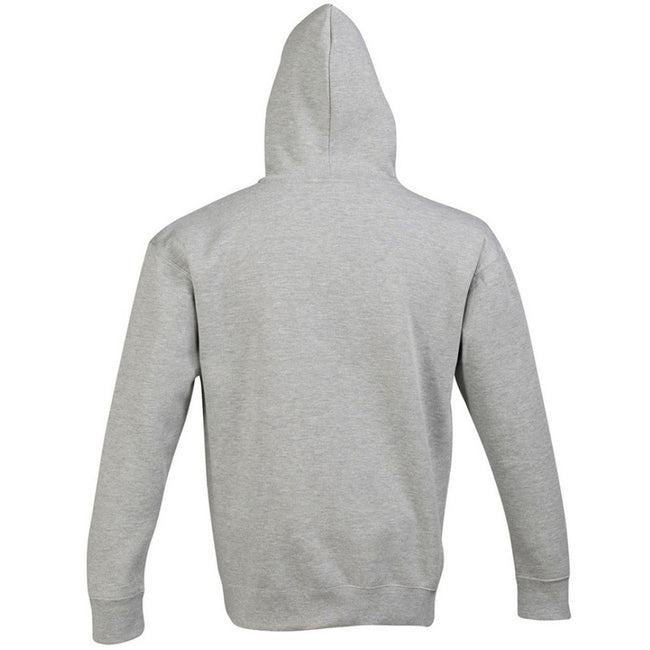 Dark Grey - Close up - SOLS Slam Unisex Hooded Sweatshirt - Hoodie