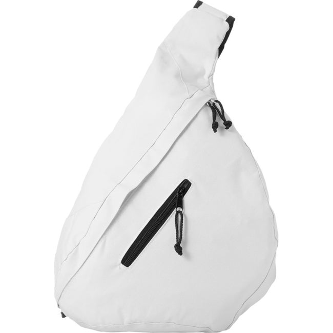 White - Front - Bullet Brooklyn Triangle Citybag