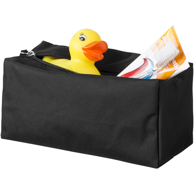 Solid Black - Front - Bullet Passage Toiletry Bag