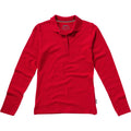 Red - Front - Slazenger Womens-Ladies Point Long Sleeve Polo Shirt