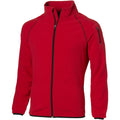 Red - Front - Slazenger Mens Drop Shot Full Zip Micro Fleece Jacket