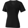 Solid Black - Front - Elevate Womens-Ladies Kawartha Short Sleeve T-Shirt