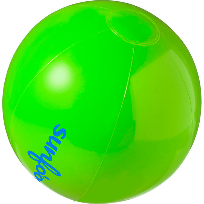 Green - Side - Bullet Bahamas Solid Colour Beach Ball