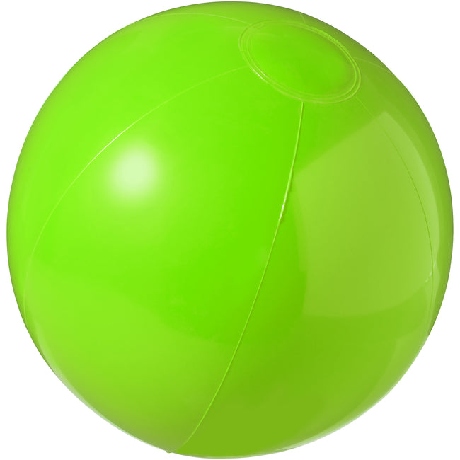Green - Front - Bullet Bahamas Solid Colour Beach Ball