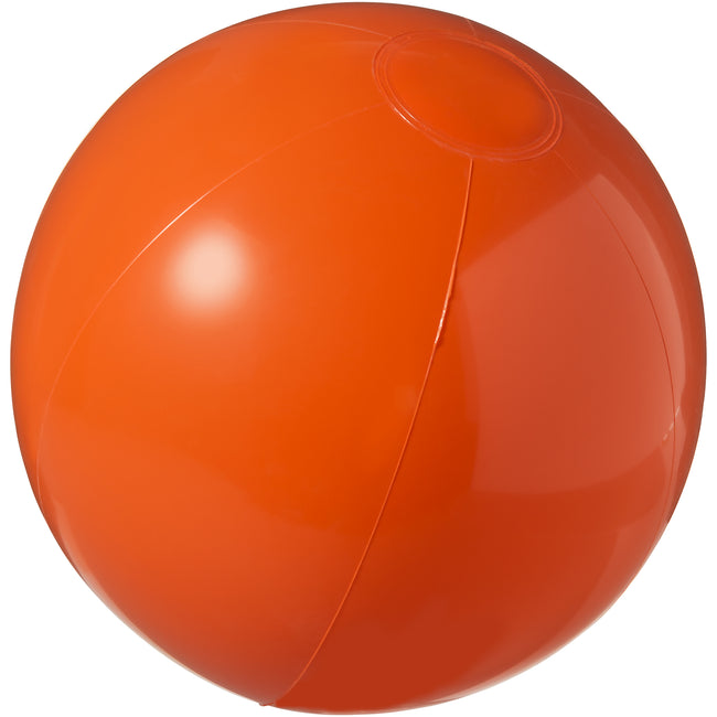 Orange - Front - Bullet Bahamas Solid Colour Beach Ball