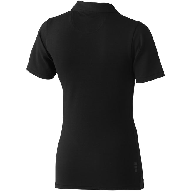 Solid Black - Back - Elevate Markham Short Sleeve Ladies Polo