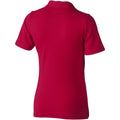 Red - Back - Elevate Markham Short Sleeve Ladies Polo