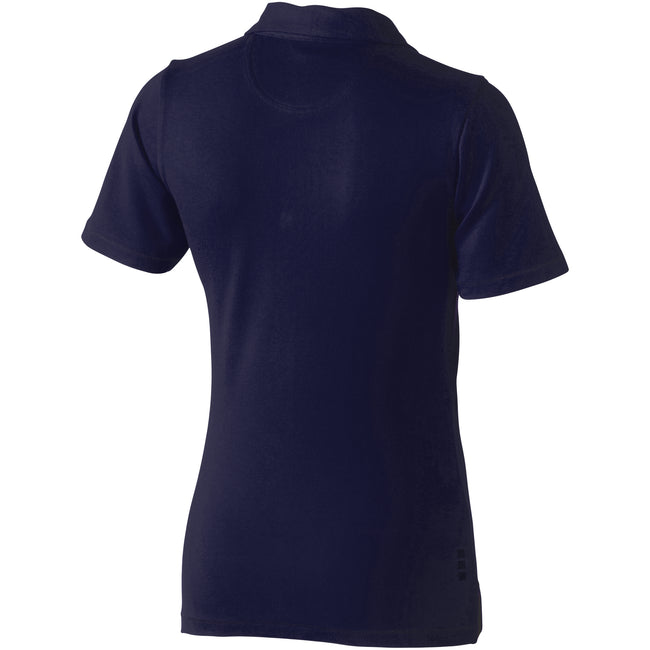 Navy - Back - Elevate Markham Short Sleeve Ladies Polo