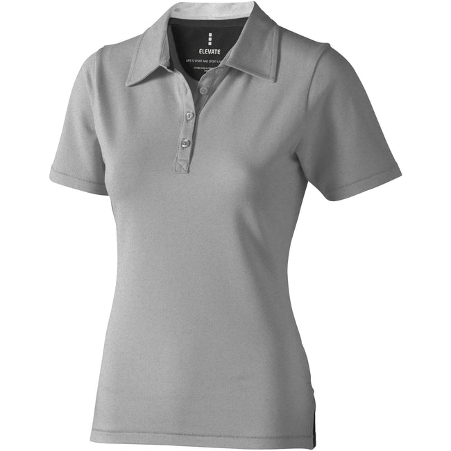 Grey Melange - Front - Elevate Markham Short Sleeve Ladies Polo