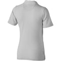 Grey Melange - Back - Elevate Markham Short Sleeve Ladies Polo