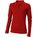 Red - Front - Elevate Oakville Long Sleeve Ladies Polo Shirt