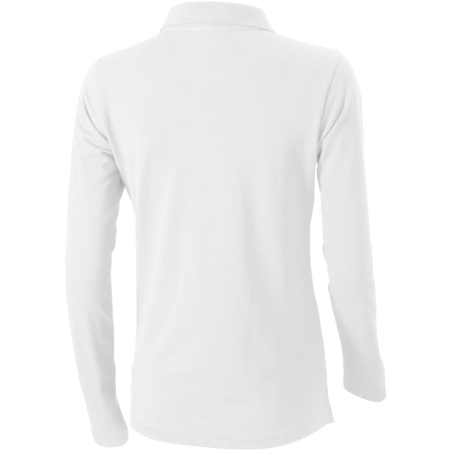 White - Back - Elevate Oakville Long Sleeve Ladies Polo Shirt