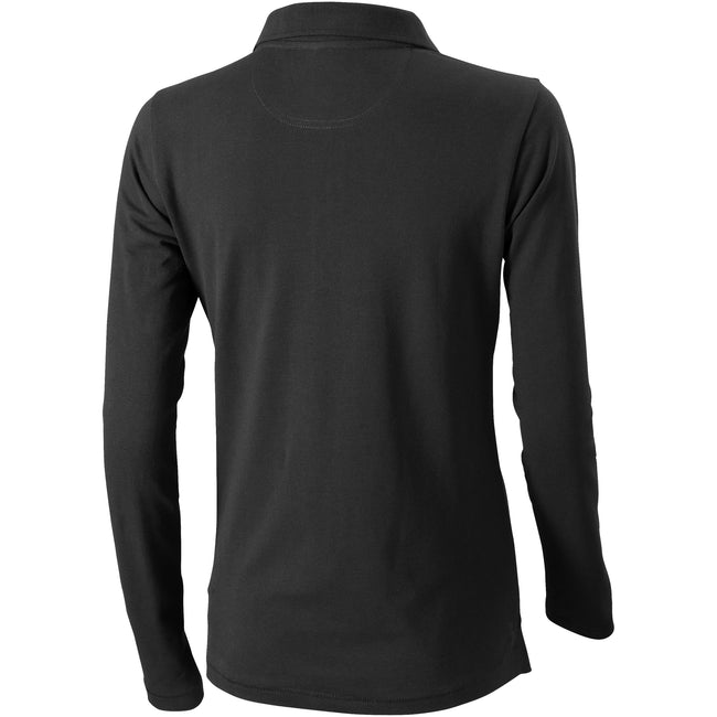 Anthracite - Back - Elevate Oakville Long Sleeve Ladies Polo Shirt
