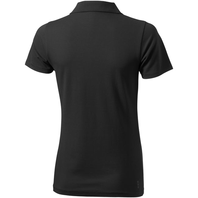 Anthracite - Back - Elevate Seller Short Sleeve Ladies Polo