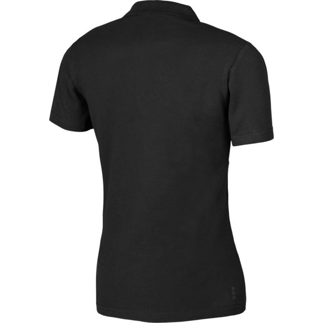 Solid Black - Front - Elevate Primus Short Sleeve Ladies Polo