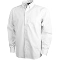 White - Front - Elevate Mens Wilshire Long Sleeve Shirt
