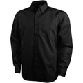 Solid Black - Front - Elevate Mens Wilshire Long Sleeve Shirt