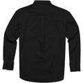Solid Black - Back - Elevate Mens Wilshire Long Sleeve Shirt